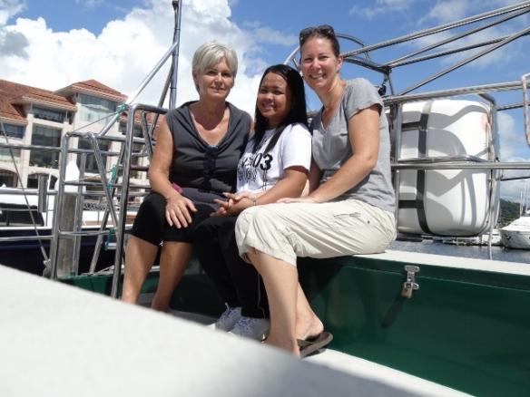 With Sylvia & May