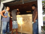 crate arrives at Subic