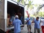 the unloading begins