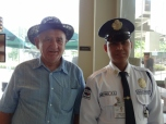 with the guard at starbucks