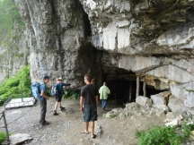 Entrance to Wildkirchli Cave