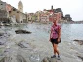 Sandra in Vernazza