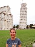 Sandra at Piazza del Duomo in Pisa