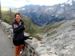 Sandra at Stelvio Pass Summit
