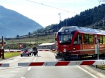 Train on the Bernina Pass