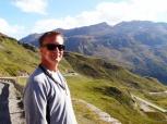 Chris on Bernina Pass Road