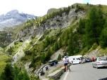 Caravan Stuck at Hairpin Turn on Stelvio Pass
