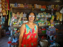 Selma at her Sari Sari Store in Concepcion