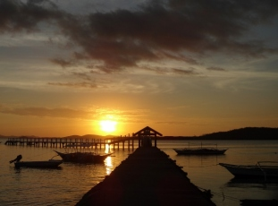 Sunset at Concepcion Pieer
