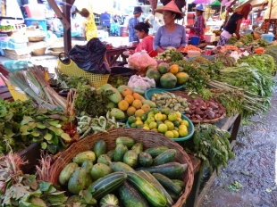 Hpa An Market, Fresh Veggies