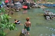 Swimming at Waterfall