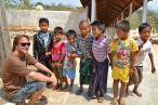 Chris with Inle Children