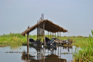 Double Boat Garage (Inle Lake)