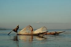 Fishing with Nets (Inle Lake, 2005)