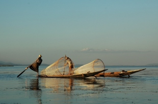 Fishing with Nets (Inle Lake, 2005)