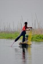 Leg Paddling Fisherman (Inle Lake)