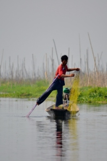 Leg Paddling Fisherman (Inle Lake)