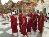 Monks at Shwedagon