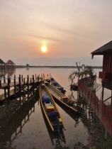 Sunrise at Hupin KD (Inle Lake)