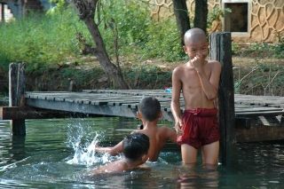 Time for a Swim (Inle Lake, 2005)