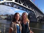 With Cari at False Creek Yacht Club