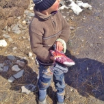 Xinaliq Boy in Winter