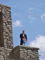 Xinaliq Man and Boy on Roof