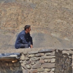 Xinaliq Man on Roof