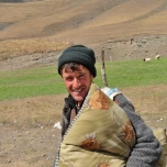 Xinaliq Shepherd Heads Off to Work