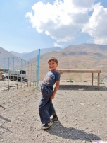 Young Xinaliq Boy Poses for the Camera