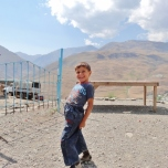 Young Xinaliq Boy Poses for the Camera