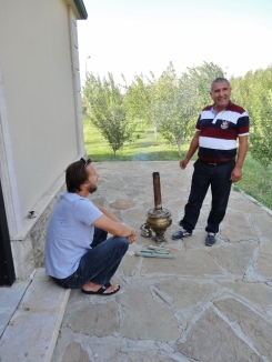 Making Breakfast Tea in a Samovar