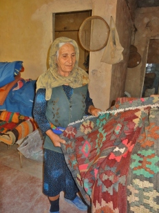 Medjid's Mom with Old Handmade Kilims