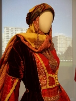 Traditional Azerbaijani Dress (Modern Skyline)