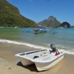 Dinghy at El Nido