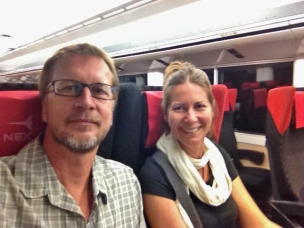 First Selfie, On the Train to Tokyo