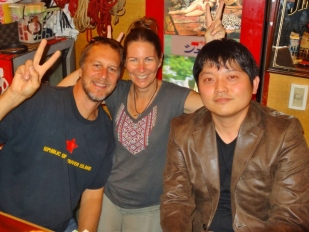 With Yoshi in Golden Gai