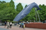 Humpback Whale Sculpture at Ueno Park