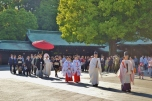 Shinto Wedding Procession at Meiji Jingu
