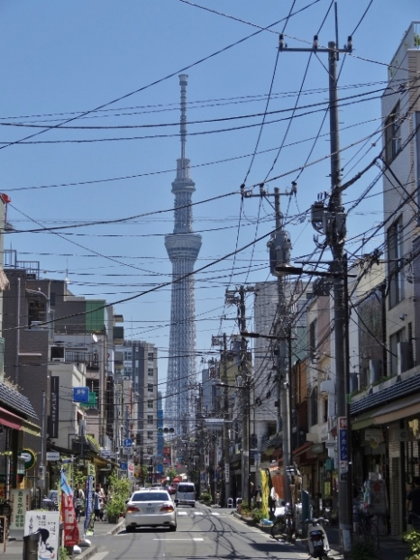 View of Tokyo Skytree from Asakusa