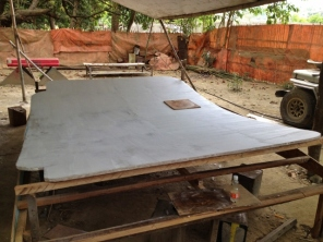Bimini Top Cut to Fit, Ready for Finishing