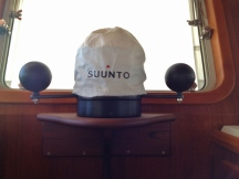 Suunto Compass on Raised Teak Mount