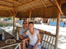 Relaxing in a Nipa Hut