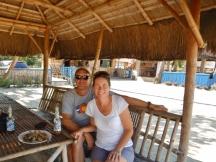 Relaxing in a Nipa Hut