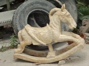 Marble Rocking Horse
