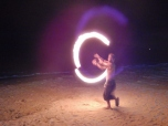 Fire Dancer at White Beach