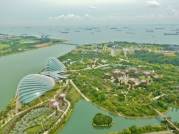 gardens-by-the-bay-and-singapore-strait