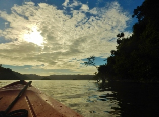 Kayaking around Cooke Island
