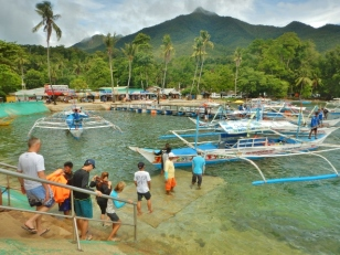 All Aboard at Sabang Beach