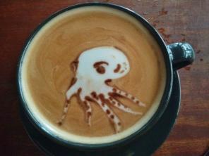 Octopus Coffee Art